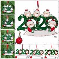 Рождественские украшения украшения Деревянные снеговика Рождественская елка висит кулон Xmas Tree Санта Клаус Подвесной с маской семьи 2-5 GGA3735-3