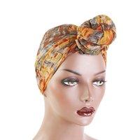 El sueño de las mujeres de Bali teñido lazo de la bola de la bufanda del sombrero impresión de la manera del viento nacional Cap nudo Wrap Headwear muselina Hijab del capo