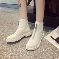 2020 invierno de Nueva Casual Mujeres Winterstiefel caliente botas botas de cuero auténtico y la tendencia de la moda cómoda suave caliente salvaje zapatos tubo corto