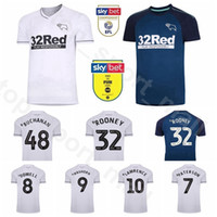 2020 2021 Derby County Soccer Jersey 9 Waghorn 7 Martin 10 Lawrence 38 Knight 20 Bogle 32 Rooney 17 Sibley Football Shirt Kits