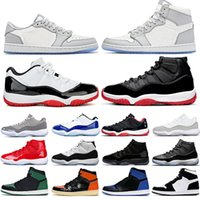 Nike Air Jordan 11 Retro 11 11s New Cap and Gown Prom Night Hombre 11 11s Zapatillas de baloncesto Zapatillas Iridescent UNC Gym Red Space Jam 45 Concord Sports Sneakers
