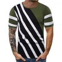 Manches Vintage Tops Tee-Shirt Homme Casual Designer Casual pur Color Line Pallened Hommes Chemises Designer ras du cou court