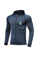 Chaqueta Italia FC Nuevo Diseño del fútbol Mejor Hombres chándal de fútbol Messi Jersey Full Zip Calentamiento de fútbol chándal