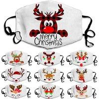 Рождество маски мужской и женской белой пыленепроницаемый и дышащая маска, моющийся и многоразовые дизайн маски 8style T500163