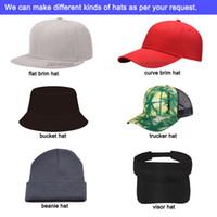 사용자 정의 모자 3D 자수 로고 플랫 브림 테니스 힙합 모자 투어 전체 닫기 완장 된 트럭 운전사 야구 스포츠 사용자 정의 모자 사용자 정의 Snapback Cap