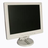 Exibição do desktop do monitor do computador de 12 polegadas não tela de toque 1024 * 768 monitores brancos do caso de plástico para computadores