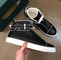 Diseñador perfecto 100MM Dusty Tricolor bloqueo de la zapatilla de deporte de cuero auténtico de alta superior zapatos para caminar al aire libre de los hombres Comfort Skateboarding