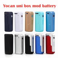 YOCAN UNI BOX MOD 650MAH Préchauffez la batterie VV 10 couleurs pour 510 épaisses Huile Vape Cartouche de préchauffage ECIG Mods
