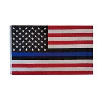 블루 삶 물질 미국 미국 경찰 신고 고품질 기리는 남성 여성 법 집행 임원 레드 블랙 화이트 블루 라인 플래그 3X5