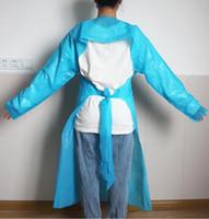 CPE de prendas protectoras desechables aislamiento Vestidos CPE de una sola vez delantal Anti 330pcs polvo al aire libre delantal delantales desechables CCA12544