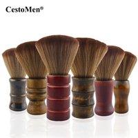 6 Styles Barber Ausschnitt Pinsel Wolle-Haar-weichen Duster Pinsel Haar, das Werkzeug-Holzgriff Reinigungsbürste