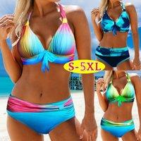 Womens Bikini Bademode Badeanzug Gradient blaue gedruckte reizvoller Frauen-Badeanzug Biquini Plus Size S-5XL Bikini Set Bademode