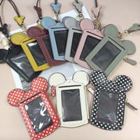 Mode Cartoon Sacs à main oreilles style Porte-cartes en cuir PU femmes mignon souris portefeuille multi-fonction Zipper Coin gros Livraison gratuite