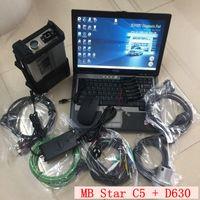 Auto Diagnóstico Ferramenta MB Estrela C5 SD 5 com V06.2021 Soft-Ware 360GB SSD instalado no laptop D630 4G para carros e caminhões Mercedes
