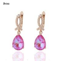 New Fashion Earrings Luxury 9 Color Rose Gold Earrings For Women Wedding Engagement Elegant Dangle Korean Jewelry