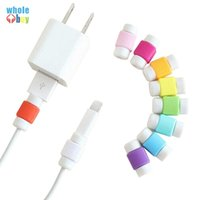 ألوان متعددة USB كيبل حامي كم شاحن الهاتف المحمول الحبل حامي سيليكون على الخط فون واقية من السيليكون لف كليب