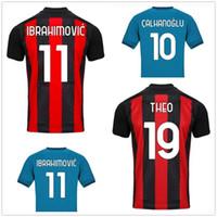 20-21 Uomo personalizzato 11 Ibrahimovic Thai Quali Soccer Jerseys Camicie Tops 7 S.castillejo 10 Calhanoglu 79 Kessie 56 Saeelmaekers 19 Theo