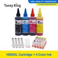 Cartuchos de tinta Toney King Compatible para 920 Cartucho 6000 65000 7000 7500 Impresora + Dey 100ml 4 Color