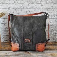 IMYOK grande capacité Designer Sacs à bandoulière pour les femmes en cuir véritable sac à main shopping Ladies Totes 2020 Hot-Crossbody Vente