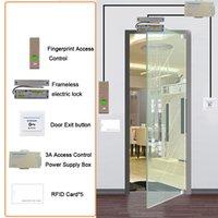 Contrôle d'accès d'empreintes digitales ESEYE RFID System System Kit Serrure de porte SET ELETIMÉE MAGNOTE ID CARTE POWERE FOURNISSEUR Bouton de sortie