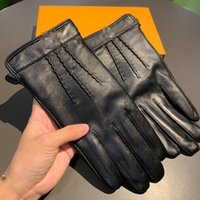 Classic Sheepskin Men Touch Screen Gloves Outdoor Warm Fashi...
