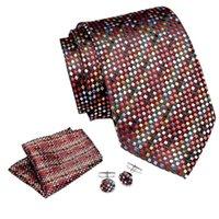 Luxe cravate des hommes 7,5 cm 100% soie Mouchoir Cuffink Tie Set robe de mariage d'affaires Flomal Accessoires pour hommes Ties classique