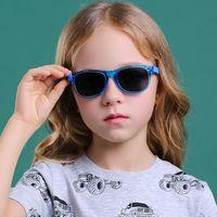 النظارات الشمسية الاطفال الاستقطاب tr90 إطار مرن للبنين الفتيات 100٪ uv حماية الطفل الأطفال مربع أشعة الشمس