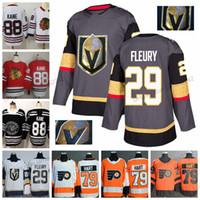 Vegas Golden Knights Jersey 29 Marc-Andre Chicago Blackhawks 88 Patrick Kane Fleury Philadelphia Flyers 79 Carter Hart Hockey Jerseys