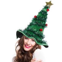2020 Costume Cappello Albero Di Natale Su fascia padre Xmas Party di Natale Babbo cappello operato Decorazioni di festa Copricapo