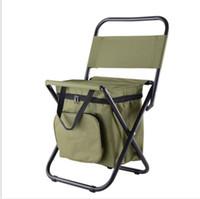 المحمولة كرسي الشاطئ طوي مع برودة كيس معزول المشي لمسافات طويلة في الهواء الطلق كراسي أثاث التخييم مريحة أكسفورد كرسي الصيد النسيج
