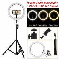 """10"""" LED Ring Light Фотографическая селфи кольцо освещения с подставкой для смартфона Youtube Tiktok Makeup видеостудии Штатив Ring Light"""