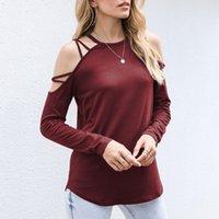 女性のブラウスシャツの女の子Tシャツオフショルダー半袖ホワイトソリッドブラックレディースTシャツホルター2021夏のファッションカジュアルT TOPS WO