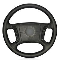 الأسود PU جلد فو التوجيهية DIY السيارات تغطية عجلة القيادة لسيارات BMW E36 E46 1995-2000 1998-2004 1995-2003 E39 E83 X3 X5 E53 2000-2006