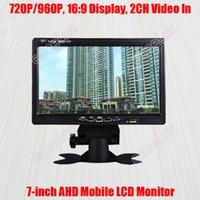 "Kutu Kameraları 7-inç 720 P 1MP 960 P 1.3MP HD AHD Mobil Monitör 7 ""LCD Ekran 2CH A / V Video Araba Arka Görünüm için CCTV Gözetim Araç Mount"