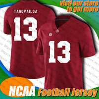 NCAA Crimson College Tide 13 TUA TAGOVAILO 3 DRAW Lock 5 Joe Flacco 13 Tua Tagovailo 10 Jerry Jeudy Jersey 58 Von Miller Jerseys