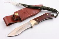 cinghiale in legno D2 Cocobolo diritta, regalo della lama della lama tattica autodifesa edc raccolta coltello coltelli da caccia natale a1053