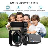 ORDRO HDV-AE8 4K WiFi Digital Video Camera Camcorder DV Recorder 30MP 16X Digital Zoom IR Night Vision 3 Inch IPS LCD Touchs