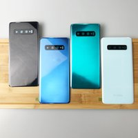 Zurück Abdeckung Glas für Samsung Original Galaxy S10 S10e S10 plus Batterie-Tür-Abdeckung Gehäuse Ersatz