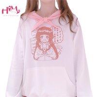 Himifashion anime Kawaii Sudaderas con capucha para adolescentes Chicas Mujeres Harajuku Lindo Dibujos animados Gráficos Manga larga Sudaderas de gran tamaño