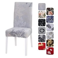 Chair Covers 1 2 4 Pcs Floral Printing Spandex Elastic Christmas Seat Cover For Wedding Dining Room Banquet Housse De Chaise