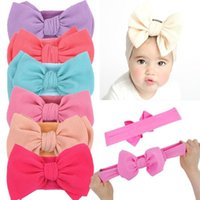 Elastic Big Bow Turban Baby Girl Headband For Children Hair Accessories Sweet Nylon Bowknot Hairband Infant Newborn Hairbow 0-5T