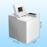 Máquina de fabricación de hielo portátil de uso doméstico para encimera, cubos de hielo listos en 6 minutos hacen 6.5kg, para fiestas 110w
