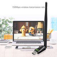 برنامج تشغيل USB WIFI USB 150Mbps RTL8188GU مع بطاقة شبكة استقبال خارجية عالية السرعة 5DBI