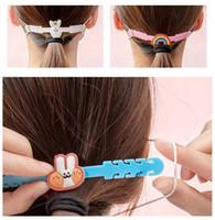 Máscara Crianças Cartoon Face Ear Ganchos ajustável antiderrapante proteção de orelha Ear Grips Extensão Gancho Máscaras Buckle Titular bonito For Kids HHF1714