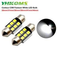 인테리어 자동차 조명 번호판 돔 트렁크 씨 C5W 꽃줄 램프 28mm의 44mm의 39m에 대한 YHKOMS 4PCS CANBUS 오류 무료 LED 전구