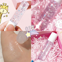 2020 Roll-on transparent with glitter lip makeup pearlescent white primer lip gloss transparent moisturizing lip oil