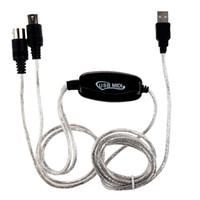 Cavi audio Connettori MIDI USB INTERFACCE INTERFACE INTERFACE CONVERTER CONVERTER PC per la musica Adattatore da tastiera