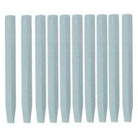 10pcs / Kit Nail File arte della pietra a forma di V Scrub Rod cuticola di rimozione del bastone della pelle guasto Pusher