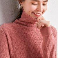 zocept 2020 Новая осень зима женщин Чистый мериносовой шерсти трикотажные витой свитер водолазка Мода Все матча пуловер