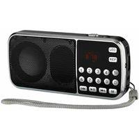 L-088 LED 자동 스캔 FM 라디오 수신기 지원 TF 미니 MP3 음악 플레이어 스피커 / SD / USB